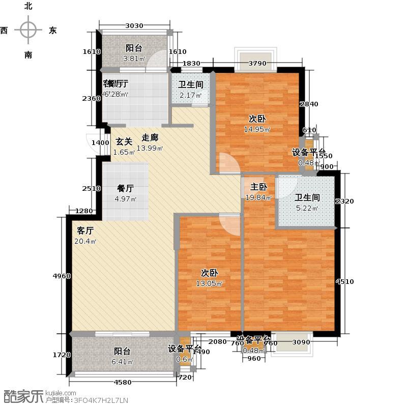 华容县阳光豪庭户型3室1厅2卫