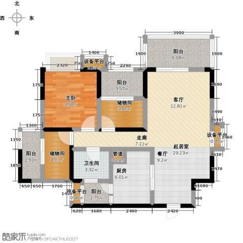 峰度天下1室0厅1卫1厨98.00㎡户型图