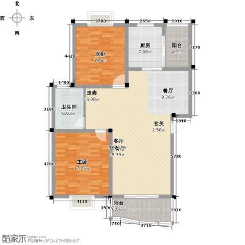 怡丰苑小区2室1厅1卫1厨144.00㎡户型图