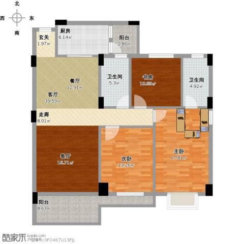 丽港豪园3室1厅2卫1厨152.00㎡户型图