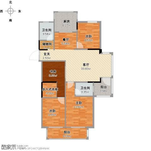 建业森林半岛4室1厅2卫1厨175.00㎡户型图