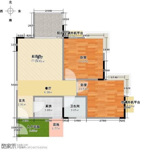 衍宏・美丽春天4期1卫1厨59.00㎡户型图