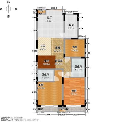 历山名郡一期3室0厅2卫1厨133.00㎡户型图
