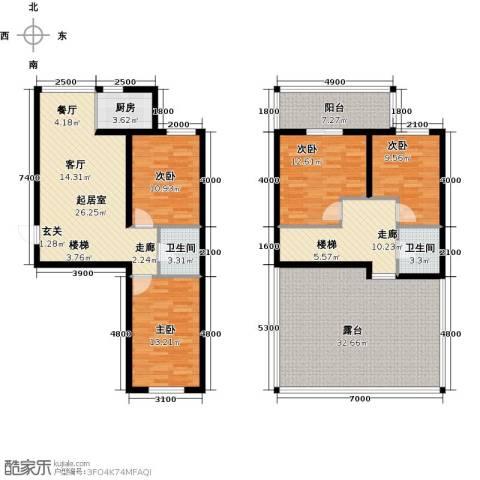 蓝廷花苑4室0厅2卫1厨132.95㎡户型图