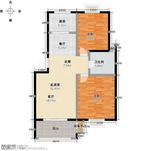 翡翠湾2室0厅1卫1厨89.00㎡户型图