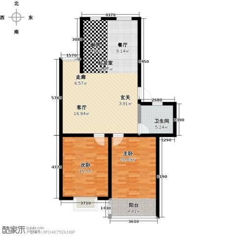 竹园小区2室0厅1卫0厨118.00㎡户型图
