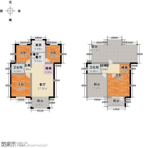 溪语原筑4室1厅2卫1厨168.23㎡户型图