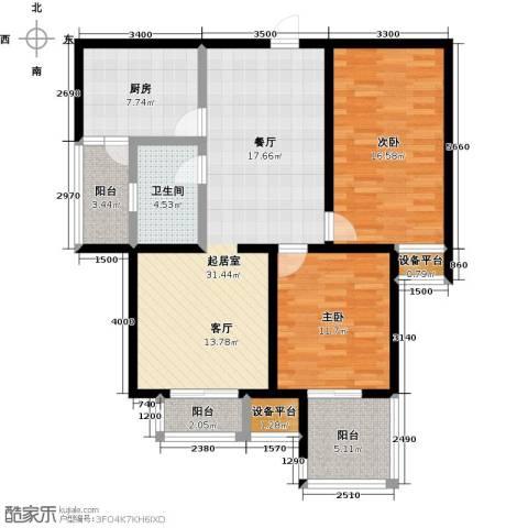 龙华苑2室0厅1卫1厨123.00㎡户型图