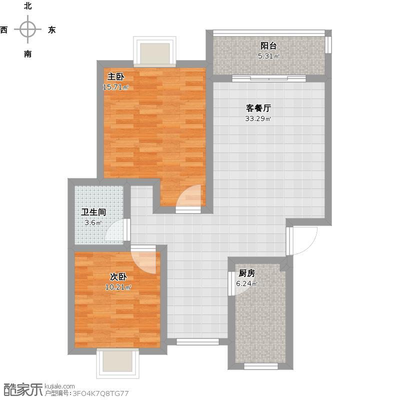 自用2室一厅设计
