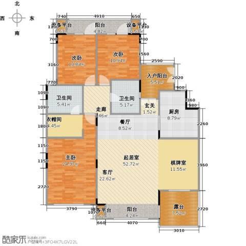 远大生态风景3室0厅2卫1厨185.00㎡户型图