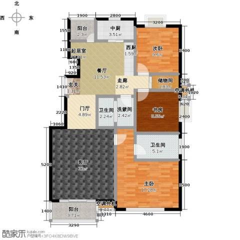 华凯花园3室0厅2卫0厨139.00㎡户型图