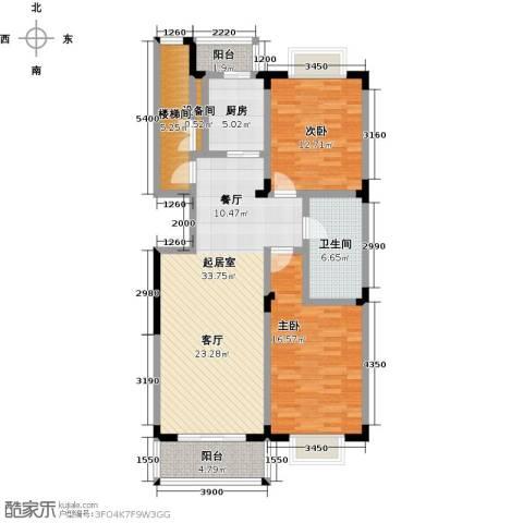 鑫瑞名苑2室0厅1卫1厨127.00㎡户型图