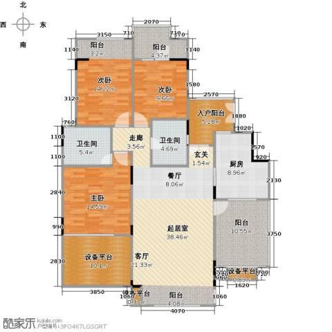 远大生态风景3室0厅2卫1厨172.00㎡户型图