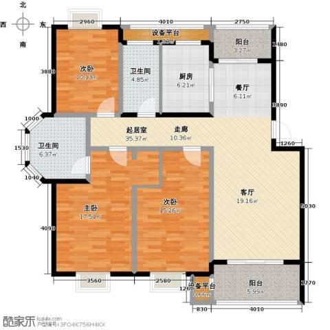 翡翠湾3室0厅2卫1厨122.00㎡户型图
