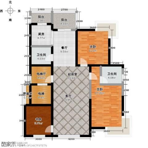 鑫瑞名苑3室0厅2卫1厨155.00㎡户型图