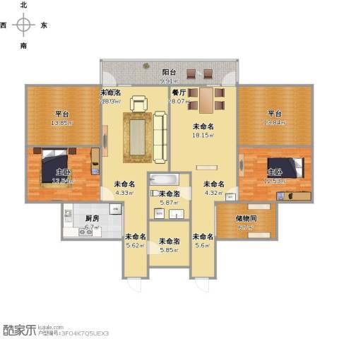 浦东三村2室2厅2卫1厨193.00㎡户型图