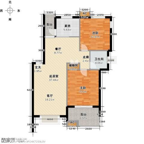 复地翠微新城(四期)2室0厅1卫1厨121.00㎡户型图