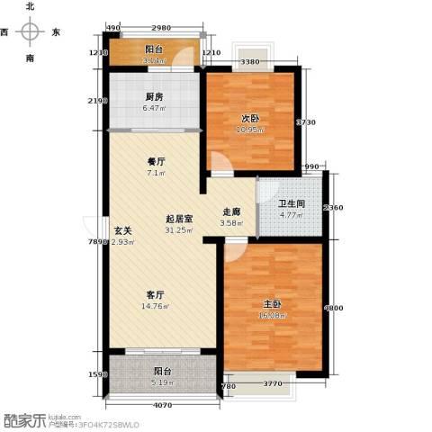 复地翠微新城(四期)2室0厅1卫1厨90.00㎡户型图
