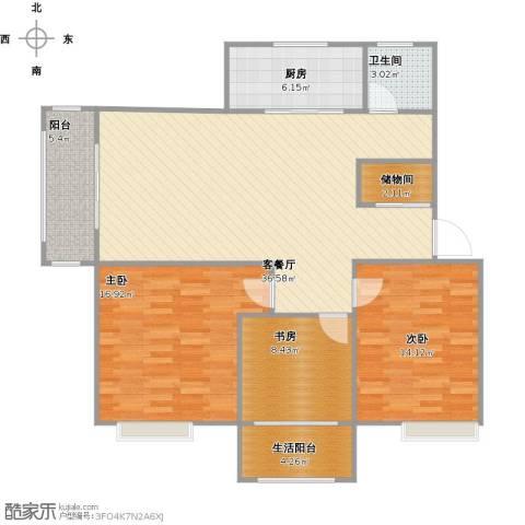 巴黎都市3室1厅1卫1厨148.00㎡户型图