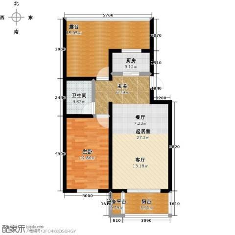 城铁边上的家1室0厅1卫1厨68.00㎡户型图