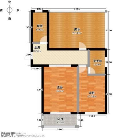 城铁边上的家2室0厅1卫1厨79.52㎡户型图