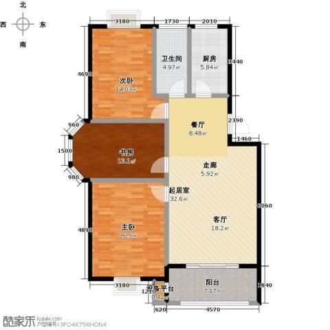 翡翠湾3室0厅1卫1厨105.00㎡户型图