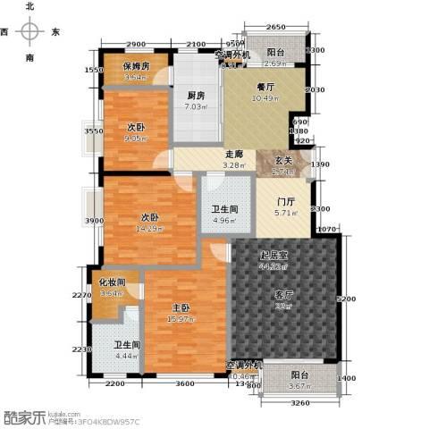华凯花园3室0厅2卫1厨158.00㎡户型图