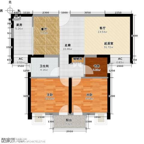 润・花园3室0厅1卫1厨108.00㎡户型图