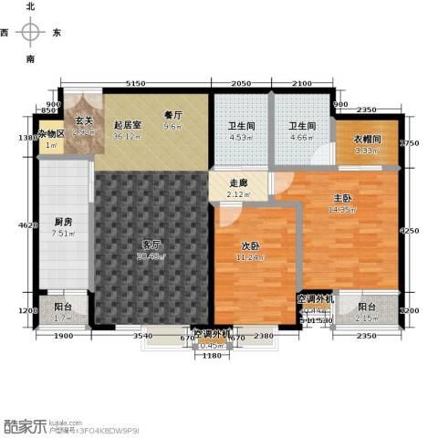 华凯花园2室0厅2卫1厨119.00㎡户型图