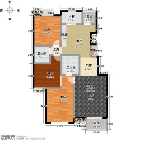 华凯花园3室0厅2卫0厨124.00㎡户型图