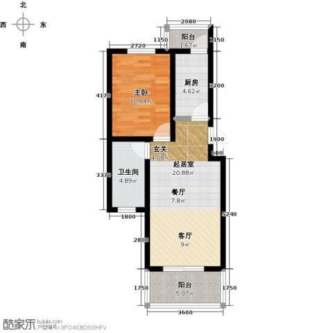 城铁边上的家1室0厅1卫1厨65.00㎡户型图