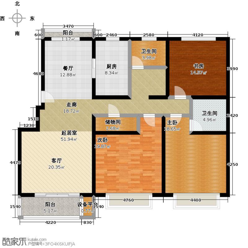 申良花园140.00㎡房型: 三房; 面积段: 140 -150 平方米; 户型
