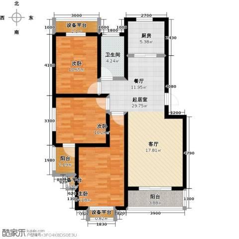 城铁边上的家3室0厅1卫1厨106.00㎡户型图