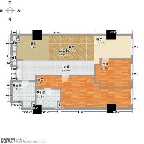金成建国5号2室0厅2卫0厨113.11㎡户型图