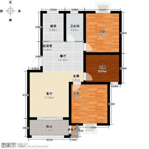 翡翠湾3室0厅1卫1厨98.00㎡户型图