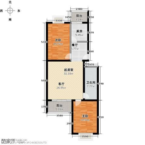城铁边上的家2室0厅1卫1厨97.00㎡户型图