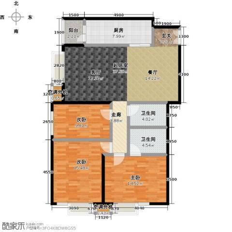 华凯花园3室0厅2卫1厨139.00㎡户型图