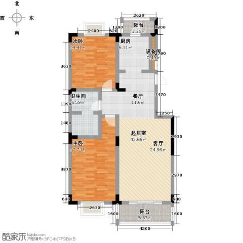 鑫瑞名苑2室0厅1卫0厨127.00㎡户型图