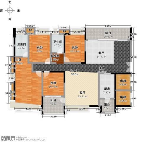 五洲花城二期4室0厅2卫1厨183.04㎡户型图