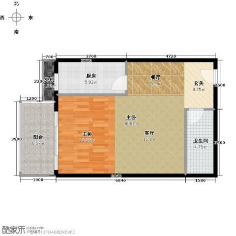 天创公馆1室0厅1卫1厨75.00㎡户型图