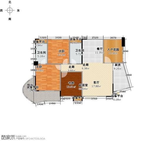 嘉豪公园世家3室0厅2卫1厨132.00㎡户型图
