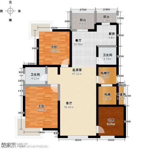 鑫瑞名苑3室0厅2卫0厨155.00㎡户型图