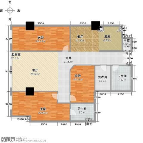 金成建国5号3室0厅2卫0厨166.03㎡户型图