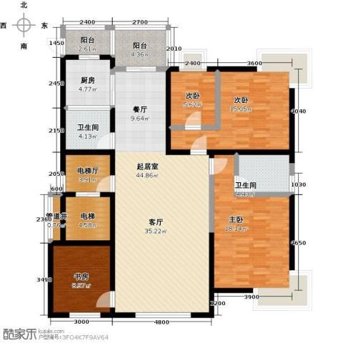 鑫瑞名苑4室0厅2卫1厨177.00㎡户型图