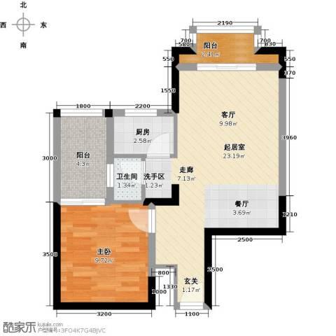 福隆花园1室0厅1卫1厨64.00㎡户型图