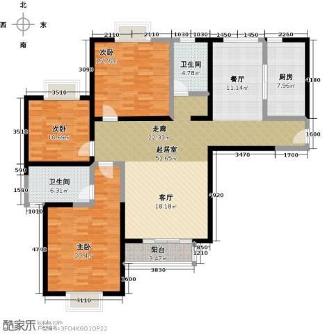 伊顿玫瑰公寓3室0厅2卫1厨173.00㎡户型图