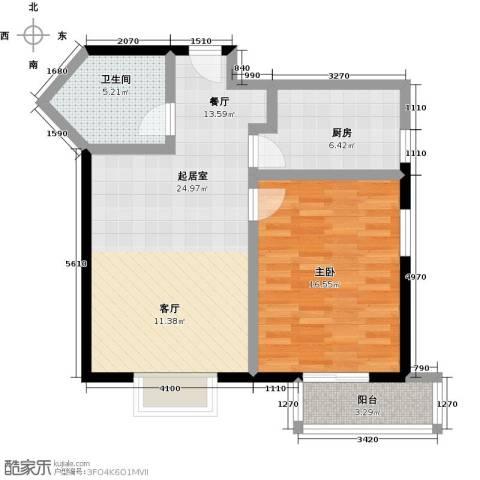 伊顿玫瑰公寓1室0厅1卫1厨81.00㎡户型图