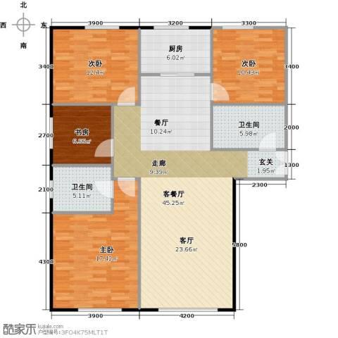 和泰馨和园4室1厅2卫1厨146.00㎡户型图