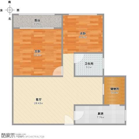 江桥电子商城1室1厅1卫1厨73.00㎡户型图