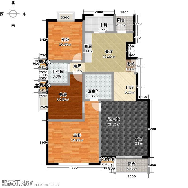 华凯花园139.06㎡12号板楼b户型
